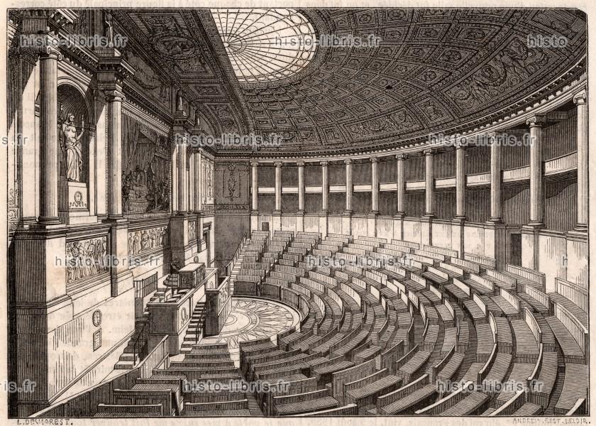 Assembl e nationale france gravure d 39 illustration - Chambre des notaires de france ...